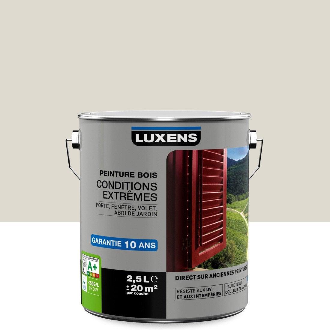 Peinture bois ext rieur conditions extr mes luxens blanc - Peinture leroy merlin luxens ...