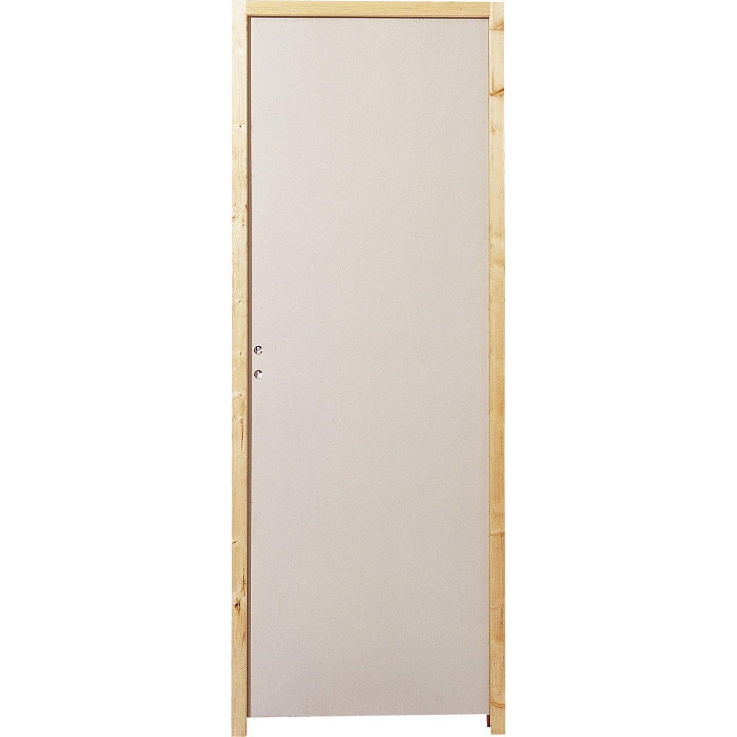 Bloc porte isoplane isoplane x cm poussant for Porte en bois pas cher