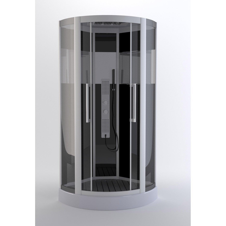 cabine de douche 1 4 de cercle x cm trendy leroy merlin. Black Bedroom Furniture Sets. Home Design Ideas