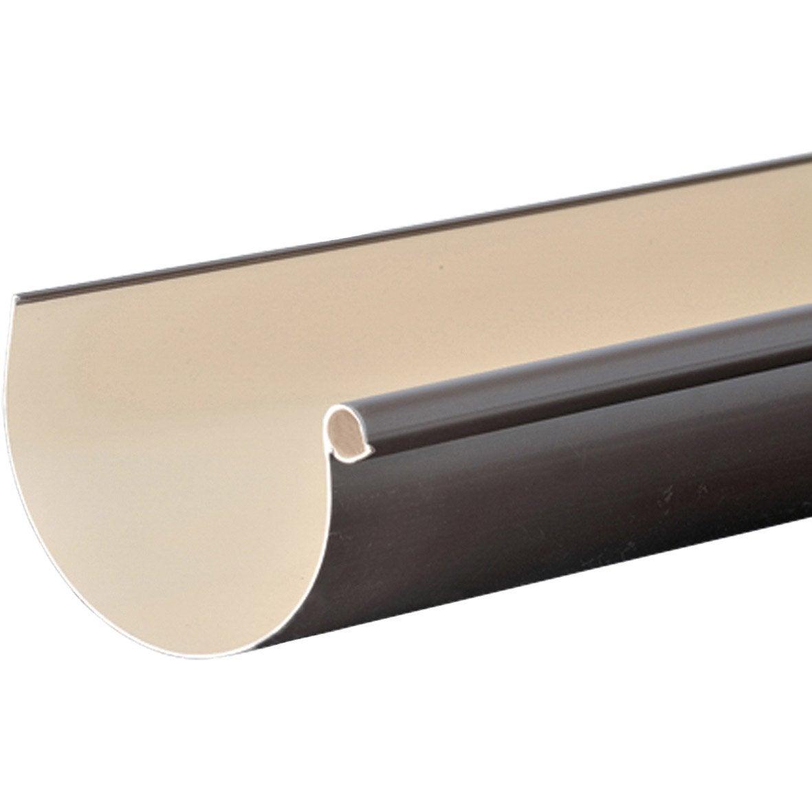 goutti re demi ronde pvc girpi d cm marron l 2 m leroy merlin. Black Bedroom Furniture Sets. Home Design Ideas