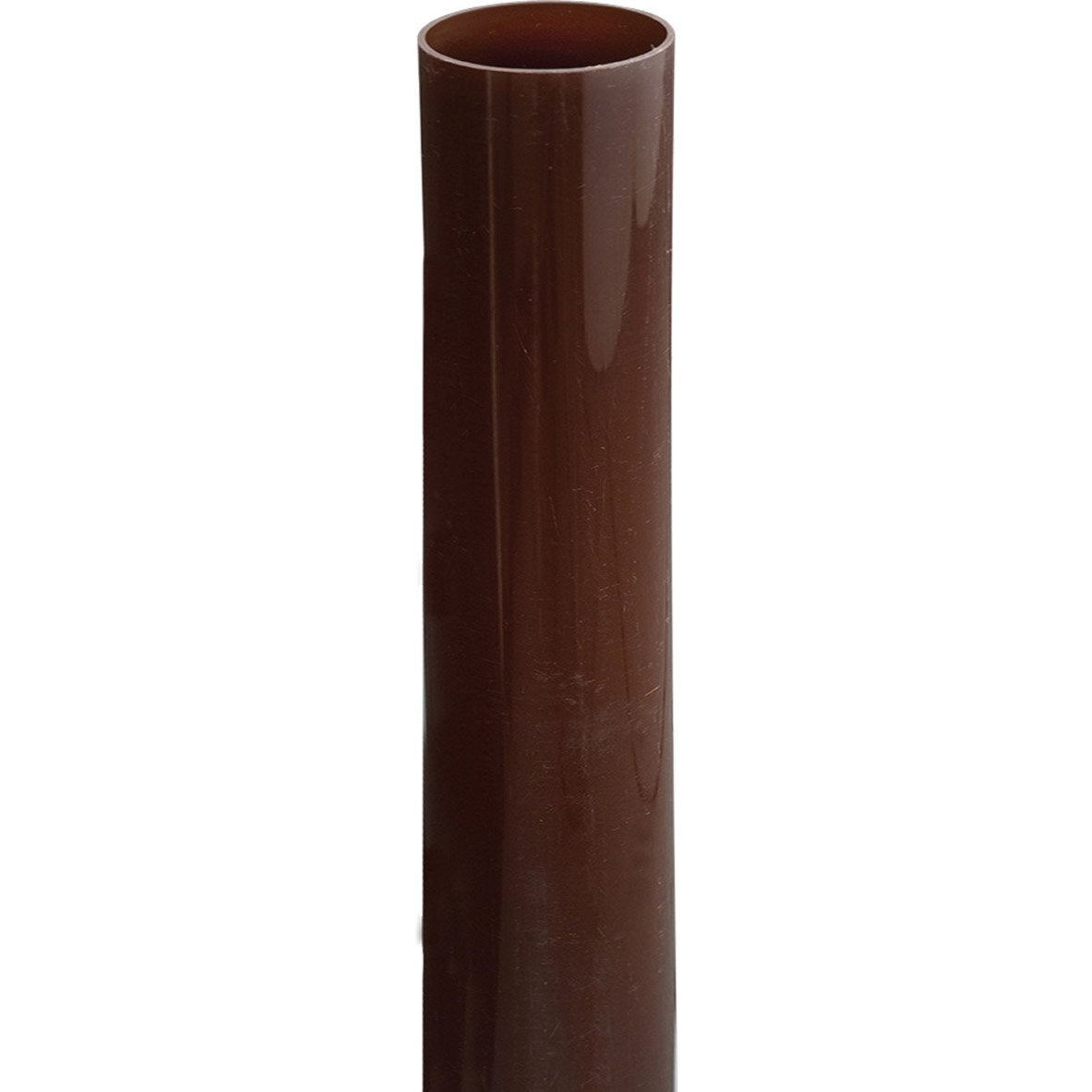 Tuyau de descente pvc marron mm l 2 m girpi for Wohnwand 2 50 m