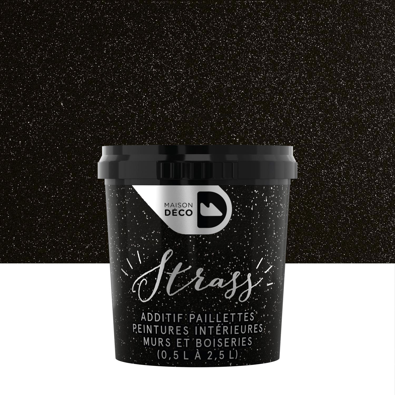 peinture paillet argent brillant maison deco strass 0025 l leroy merlin - Chambre Mur Noir Paillete