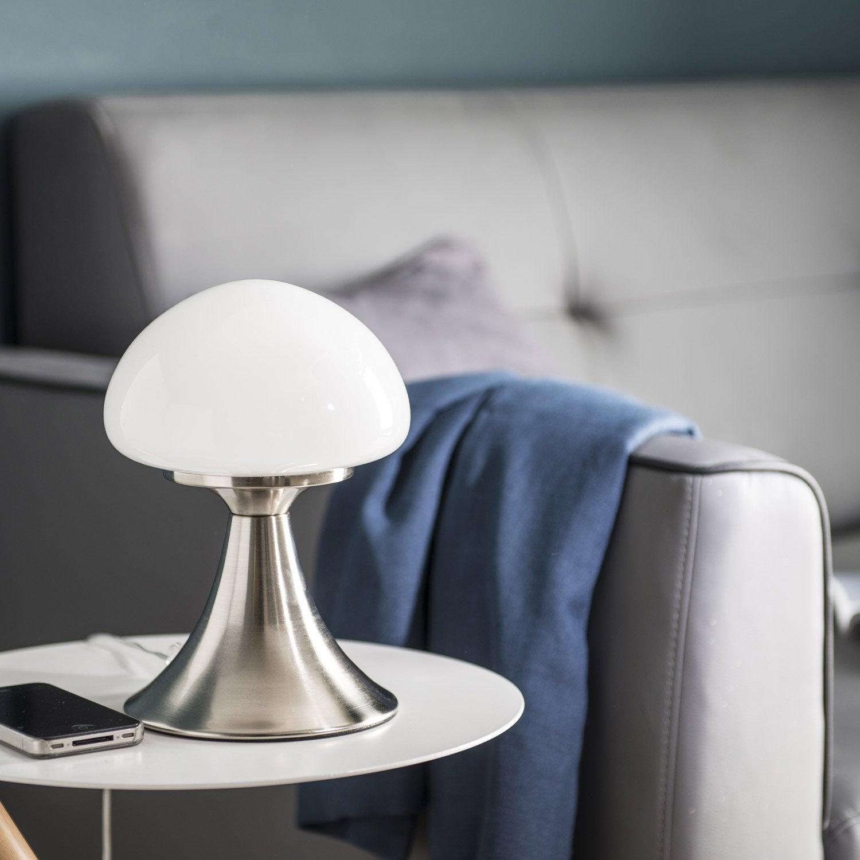 lampe tactile led integree kinoko inspire verre blanc 4 w Résultat Supérieur 60 Impressionnant Lustre à Pampilles Stock 2018 Uqw1