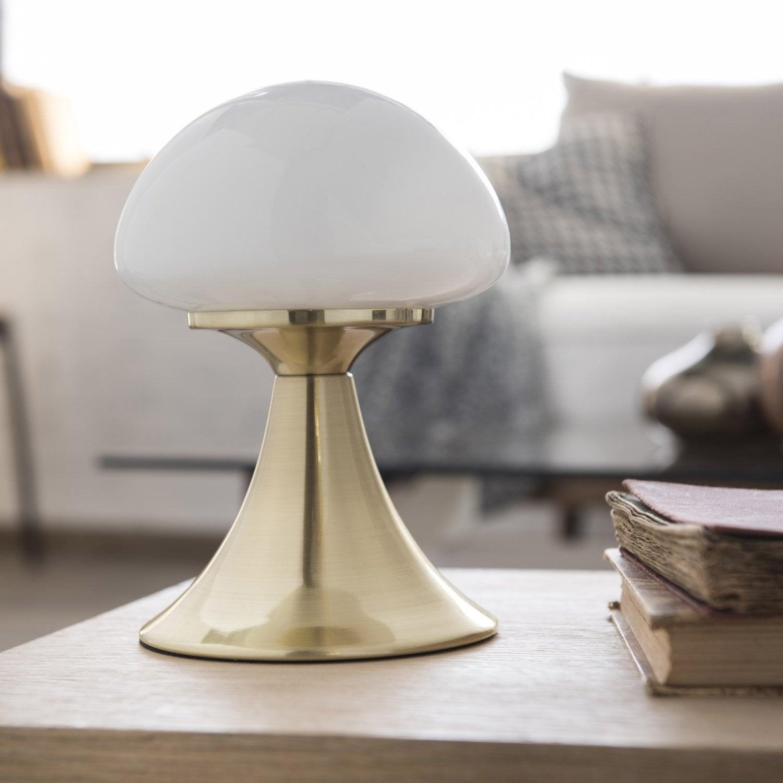 lampe tactile led int gr e kinoko inspire verre blanc 4. Black Bedroom Furniture Sets. Home Design Ideas