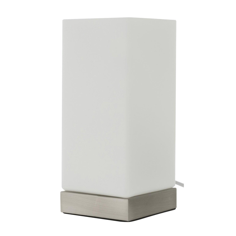 lampe uji inspire verre blanc 60w w leroy merlin. Black Bedroom Furniture Sets. Home Design Ideas