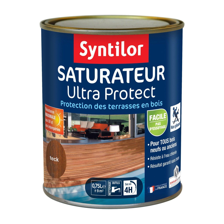 saturateur pour bois ultra protect syntilor teck 750 ml leroy merlin. Black Bedroom Furniture Sets. Home Design Ideas