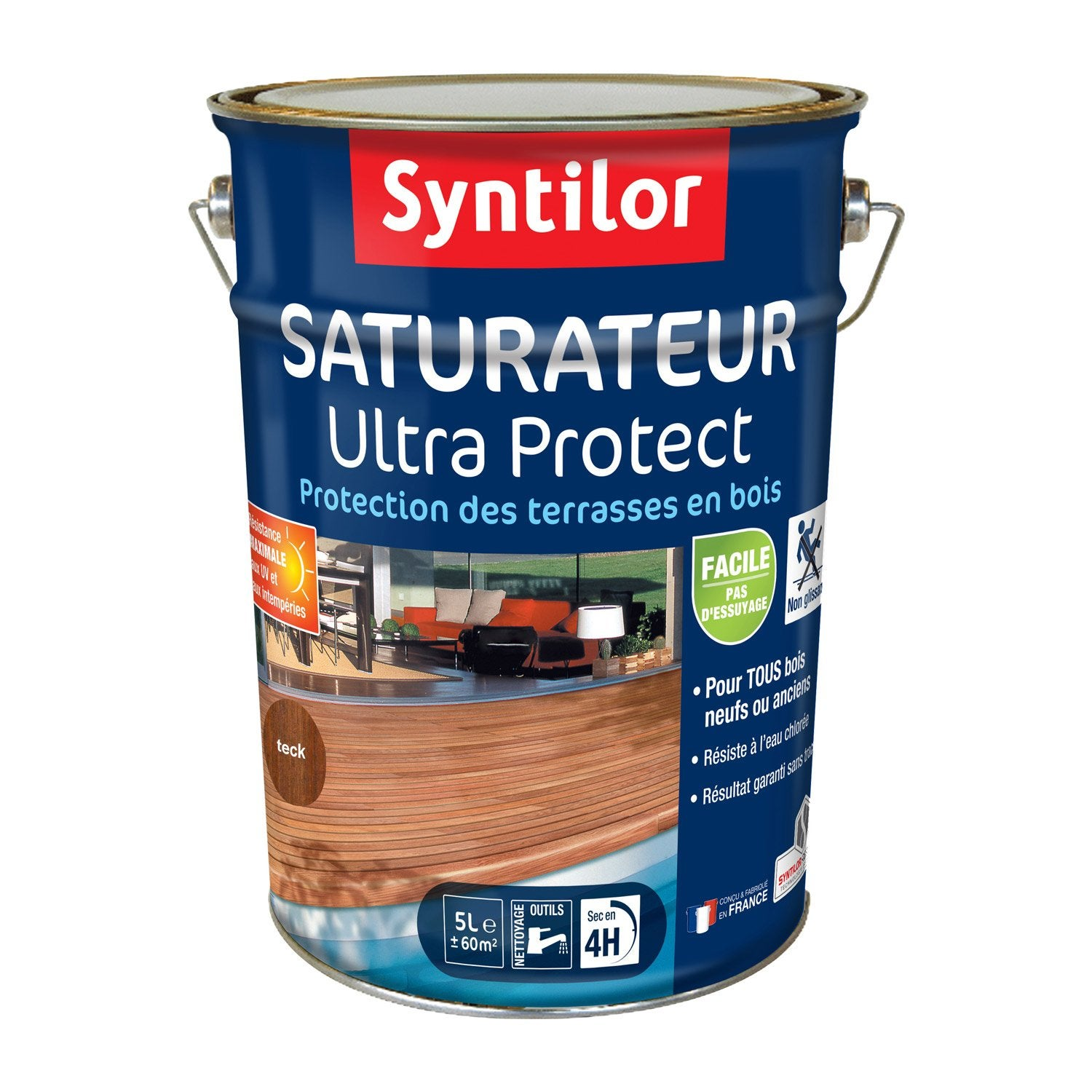 Saturateur pour bois Ultra protect syntilor teck, 5 l Leroy Merlin # Saturateur Bois Leroy Merlin