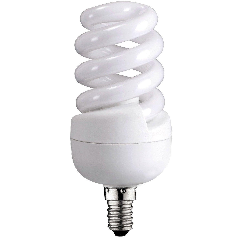 Ampoule spirale fluorescente 12w 741lm quiv 60w e14 - Ampoule lumiere noire leroy merlin ...