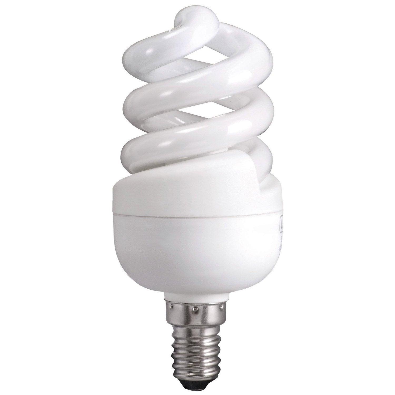 Ampoule Spirale Economie D Energie 12w Lexman E 14 Lumiere Du Jour Env