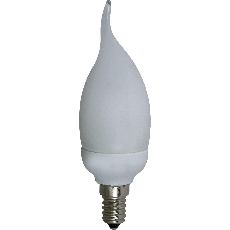 Ampoule Flamme Conomie D 39 Nergie 9w Lexman E 14 Lumi Re Chaude Env 2700k Leroy Merlin