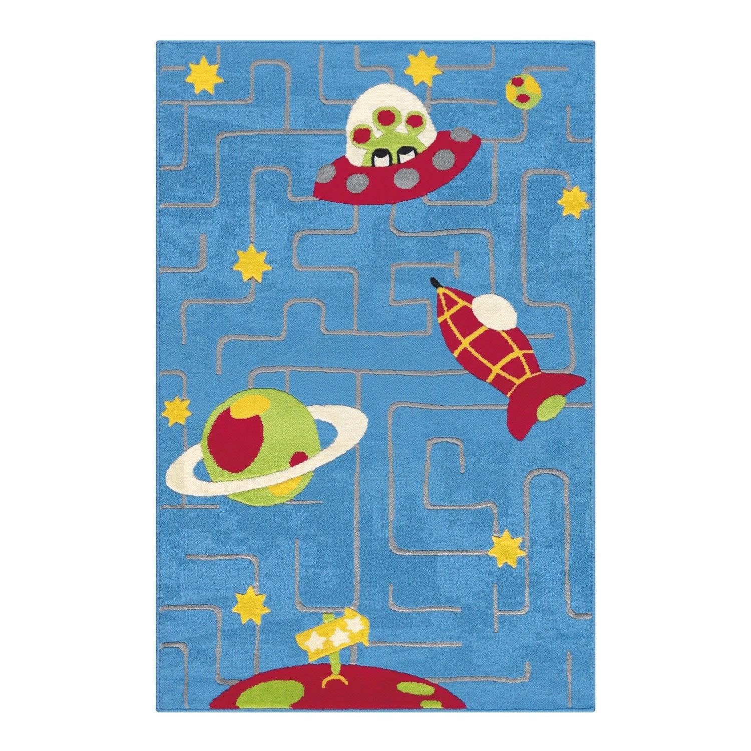tapis enfant velours plan 232 tes multicolore 150x100 cm leroy merlin