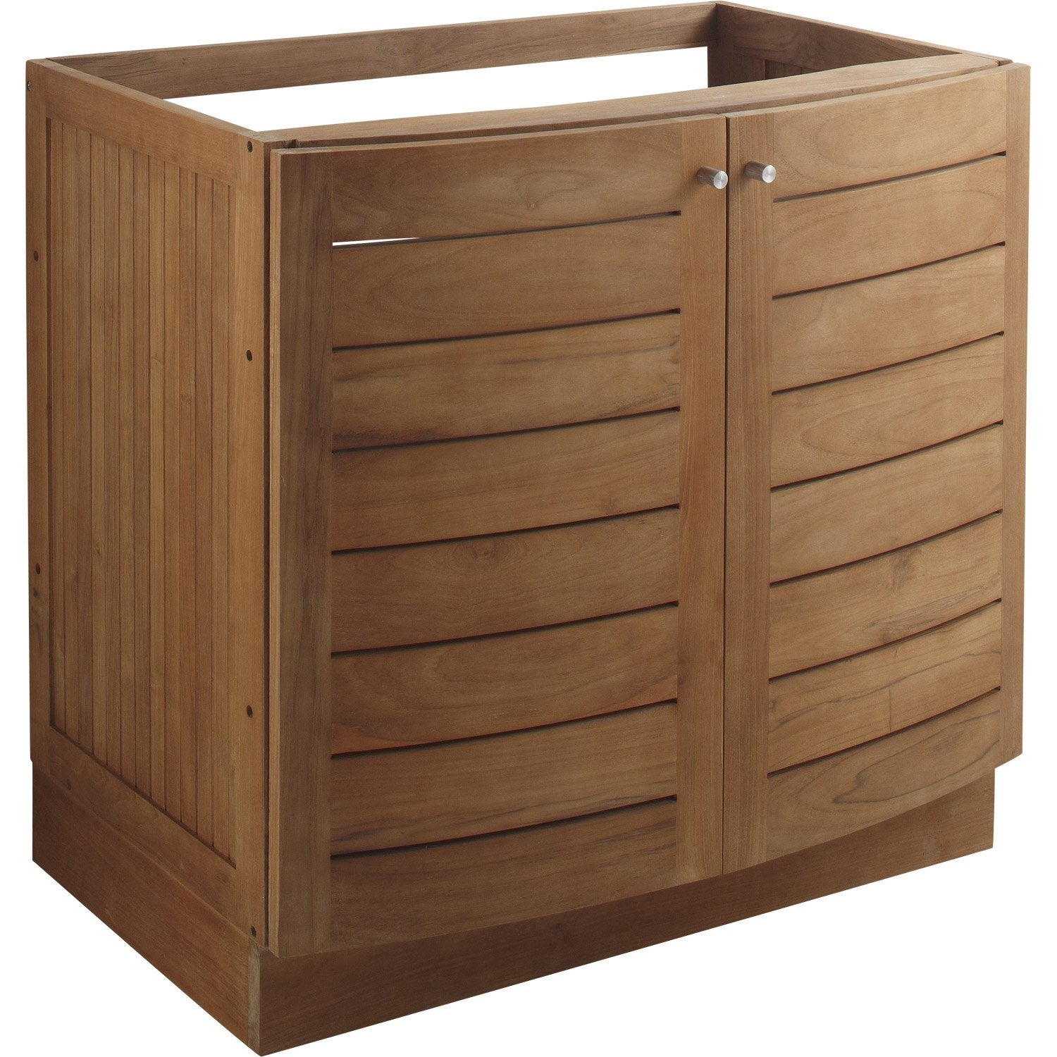 Meuble sous vasque en teck naturel wellington l85xh80xp56 - Meuble vasque leroy merlin ...