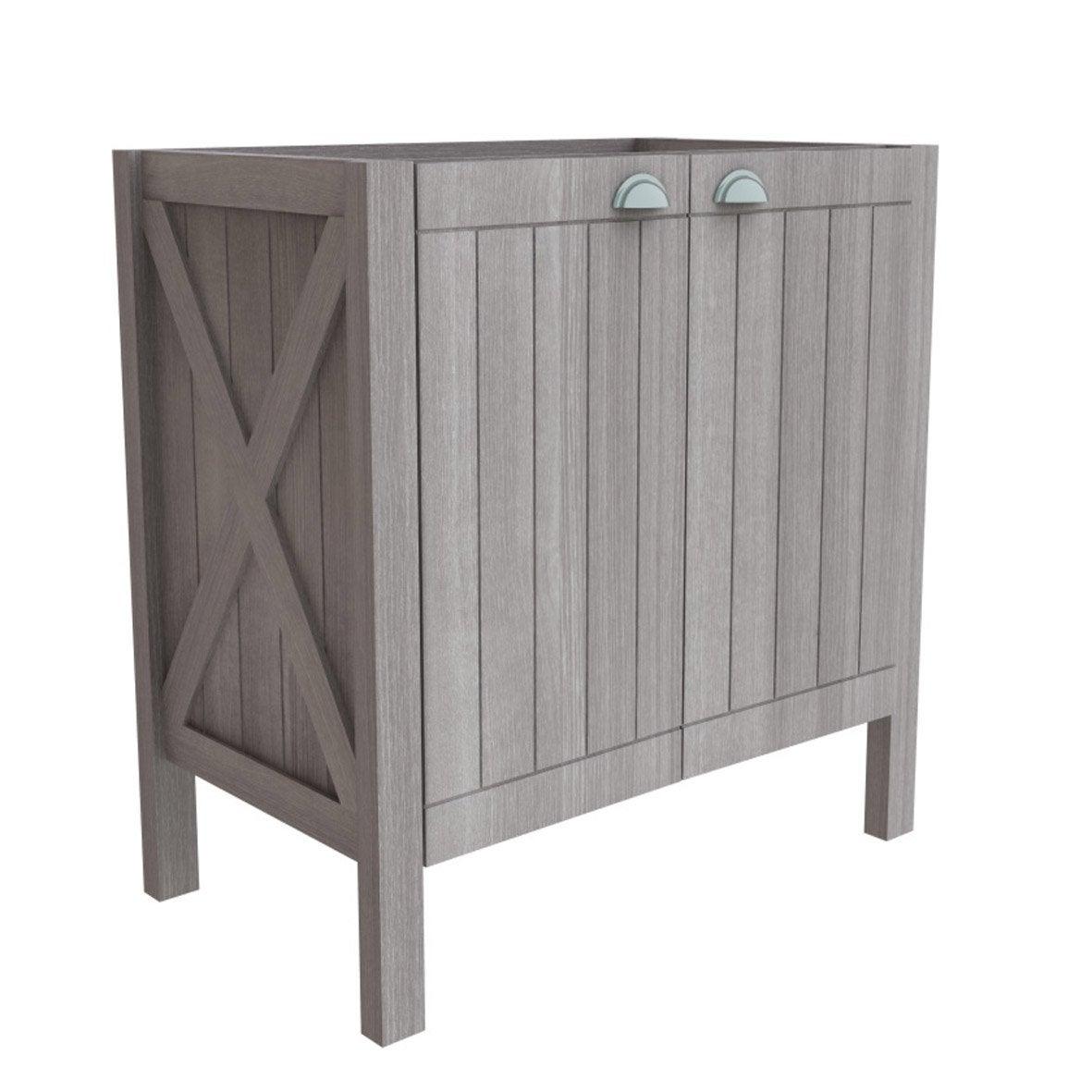 meuble sous vasque long island gris 2 portes leroy merlin. Black Bedroom Furniture Sets. Home Design Ideas