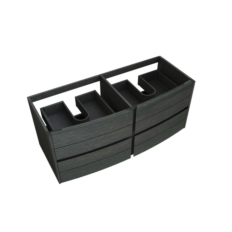 Meuble sous vasque x x cm noir fairway for Meuble salle de bain double vasque leroy merlin