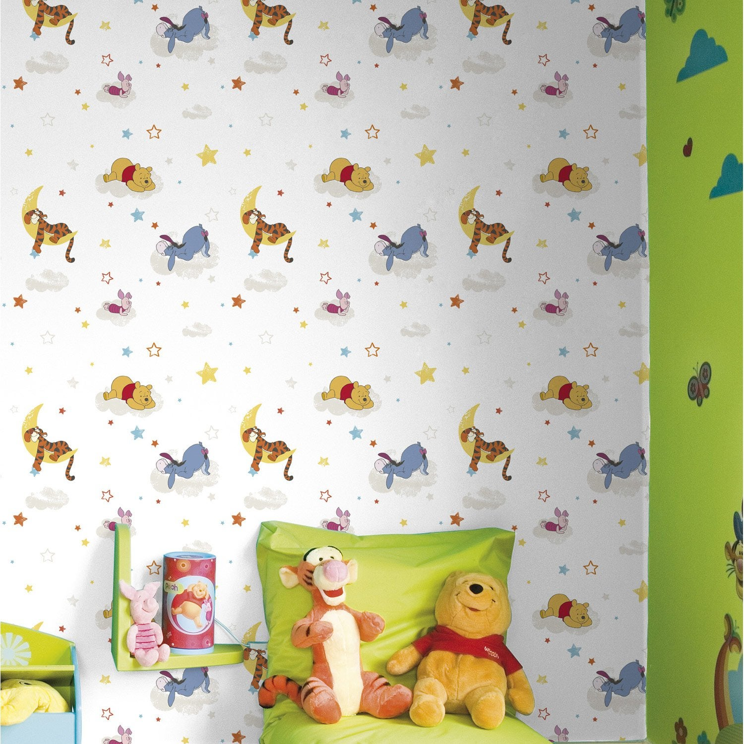 papier peint sur papier disney winnie multi couleur larg m leroy merlin. Black Bedroom Furniture Sets. Home Design Ideas