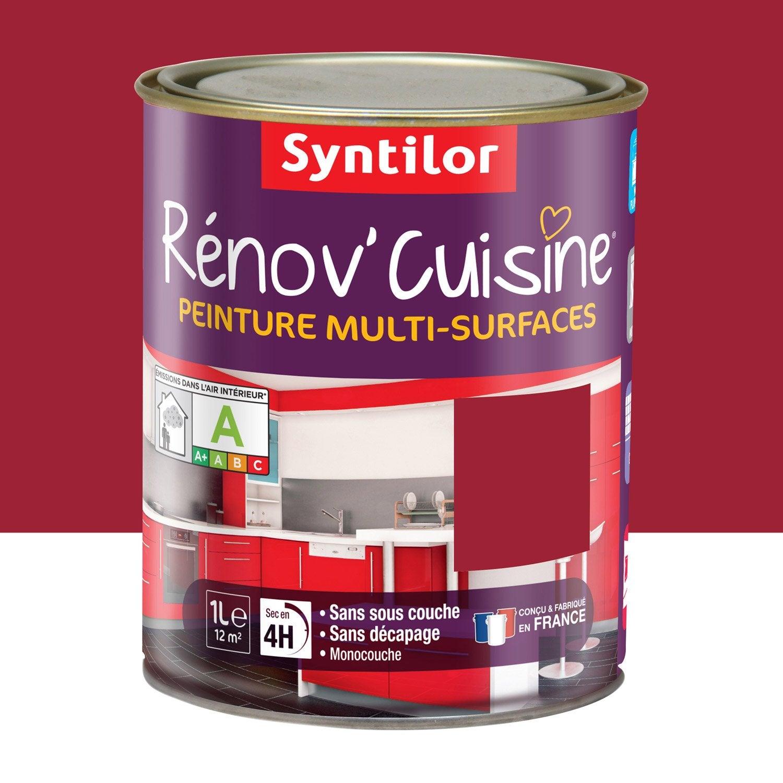 Peinture r nov 39 cuisine syntilor rouge gaspacho 1 l leroy merlin for Cuisine leroy merlin rouge