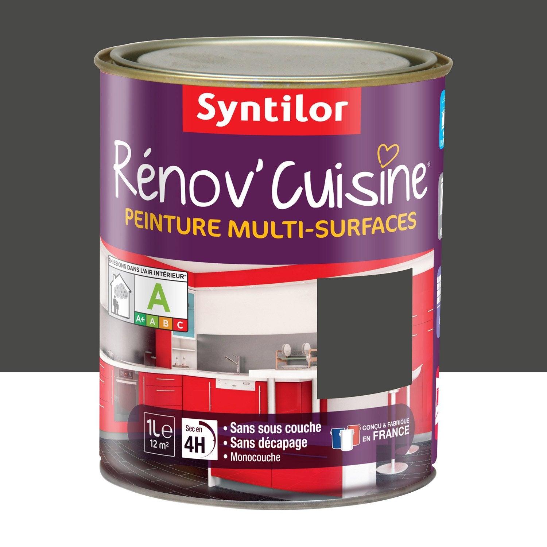 Peinture r nov 39 cuisine syntilor gris pavot 1 l leroy for Renov cuisine syntilor