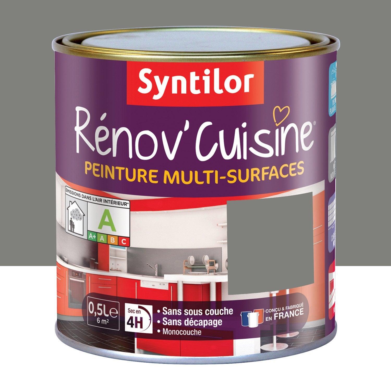 Peinture r nov 39 cuisine syntilor poivre gris 0 5 l leroy merlin for Peinture teinte leroy merlin