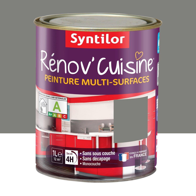 Peinture r nov 39 cuisine syntilor poivre gris 1 l leroy for Peinture cuisine leroy merlin