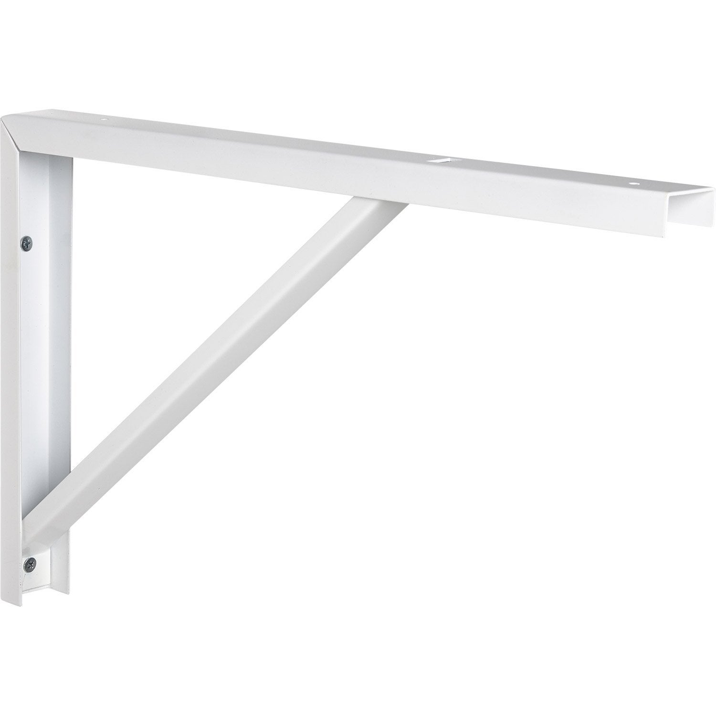 equerre robusto acier epoxy blanc x cm leroy. Black Bedroom Furniture Sets. Home Design Ideas