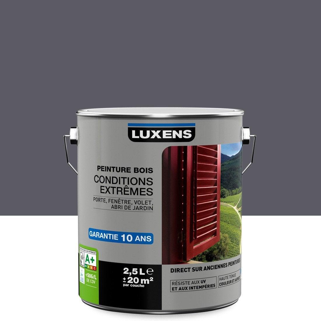 Peinture bois ext rieur conditions extr mes luxens gris for Peinture sur crepi exterieur