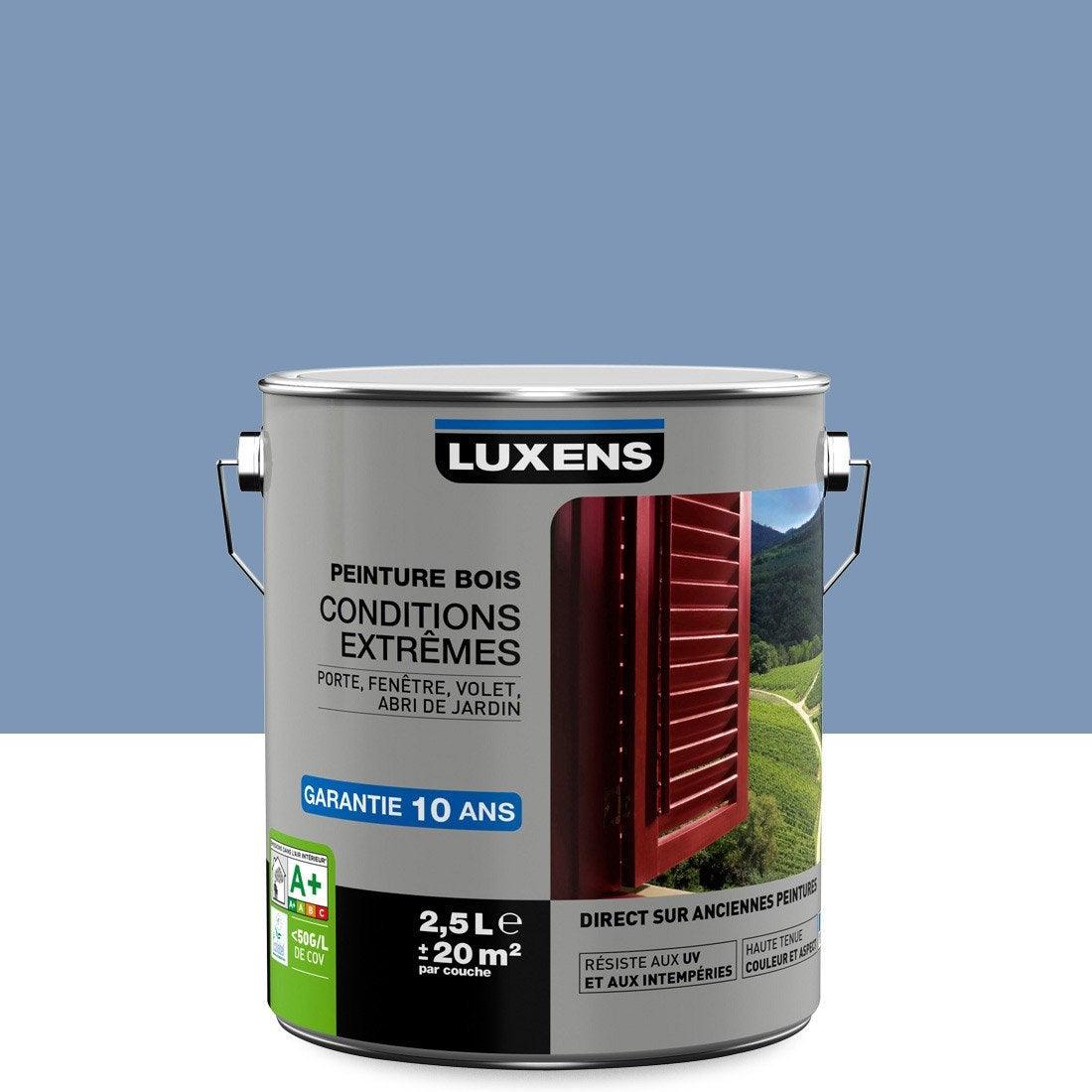 Peinture bois ext rieur conditions extr mes luxens bleu provence 2 5 l leroy merlin - Peinture epoxy leroy merlin ...