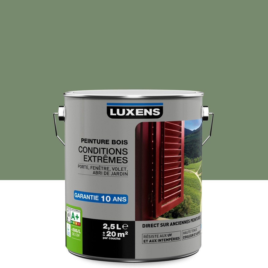 Peinture bois ext rieur conditions extr mes luxens vert - Magasin leroy merlin en france ...
