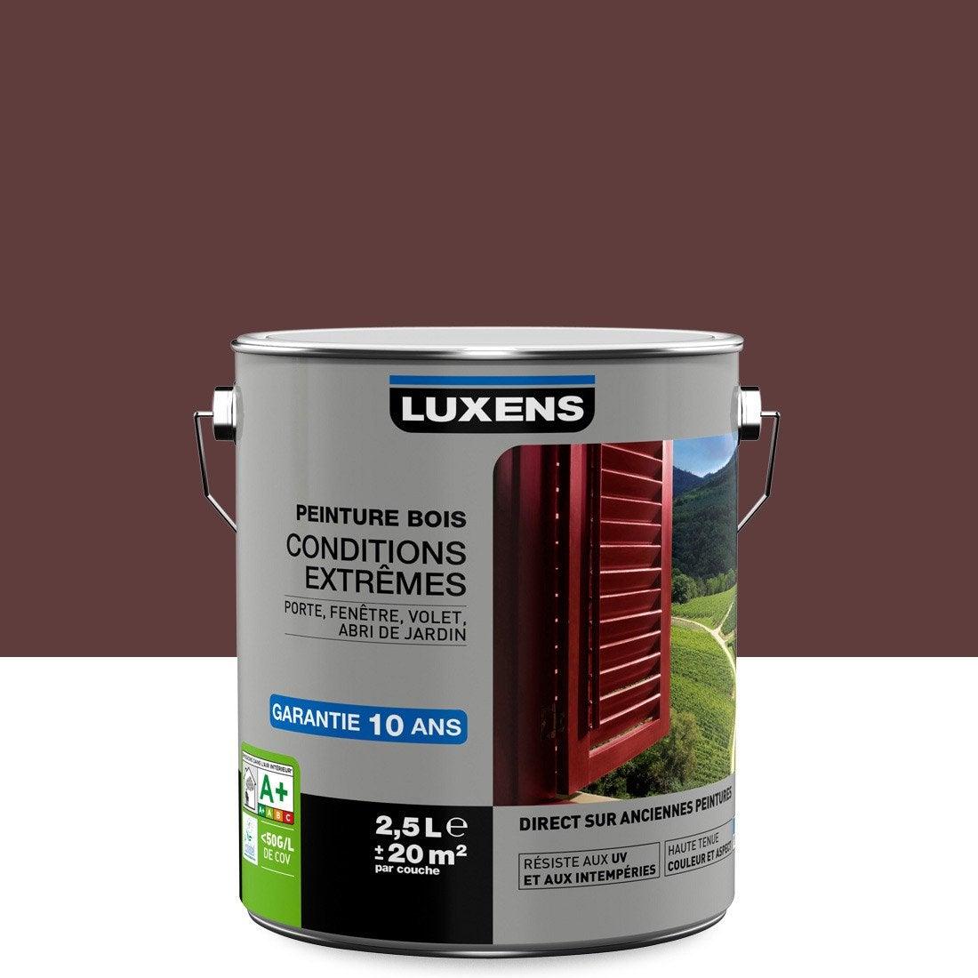 peinture bois ext rieur conditions extr mes luxens rouge basque 2 5 l leroy merlin. Black Bedroom Furniture Sets. Home Design Ideas