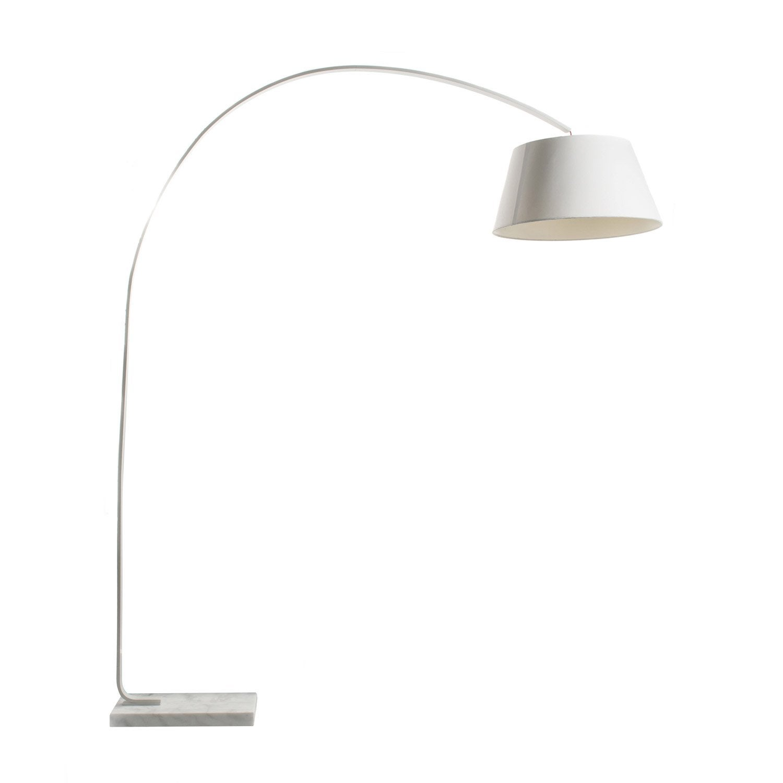 lampadaire kurt 190 cm blanc 40 w leroy merlin. Black Bedroom Furniture Sets. Home Design Ideas