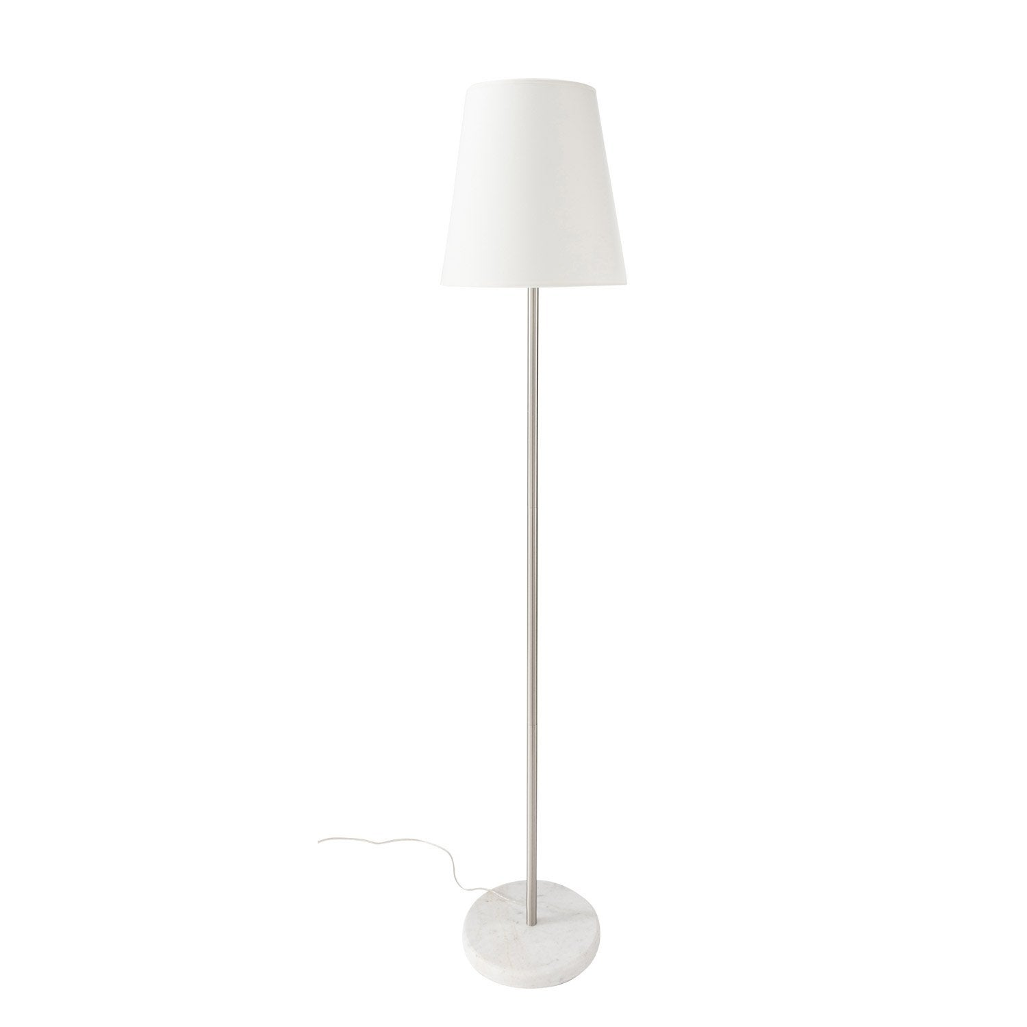 lampadaire marbela inspire 150 cm blanc 60 w leroy merlin. Black Bedroom Furniture Sets. Home Design Ideas