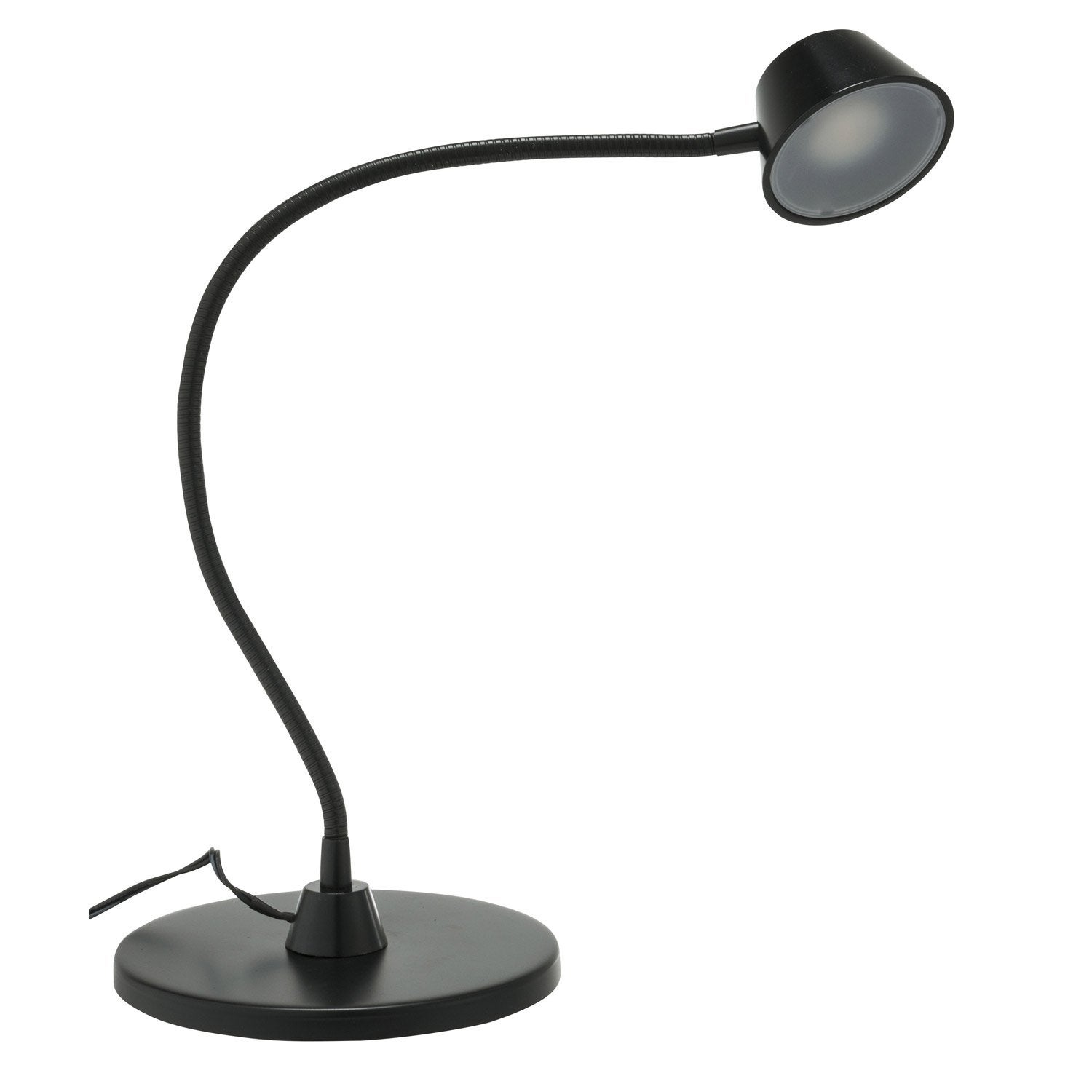 lampe de bureau poser noir led minar inspire leroy merlin. Black Bedroom Furniture Sets. Home Design Ideas