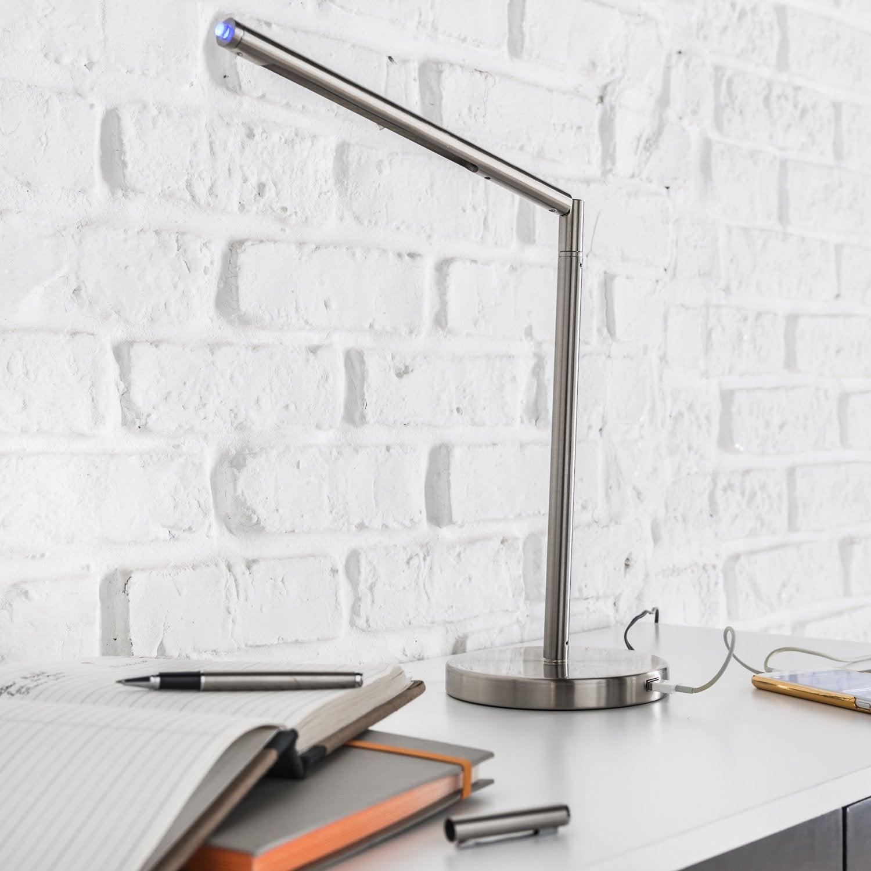 lampe usb led int gr e poser acier led loho inspire. Black Bedroom Furniture Sets. Home Design Ideas