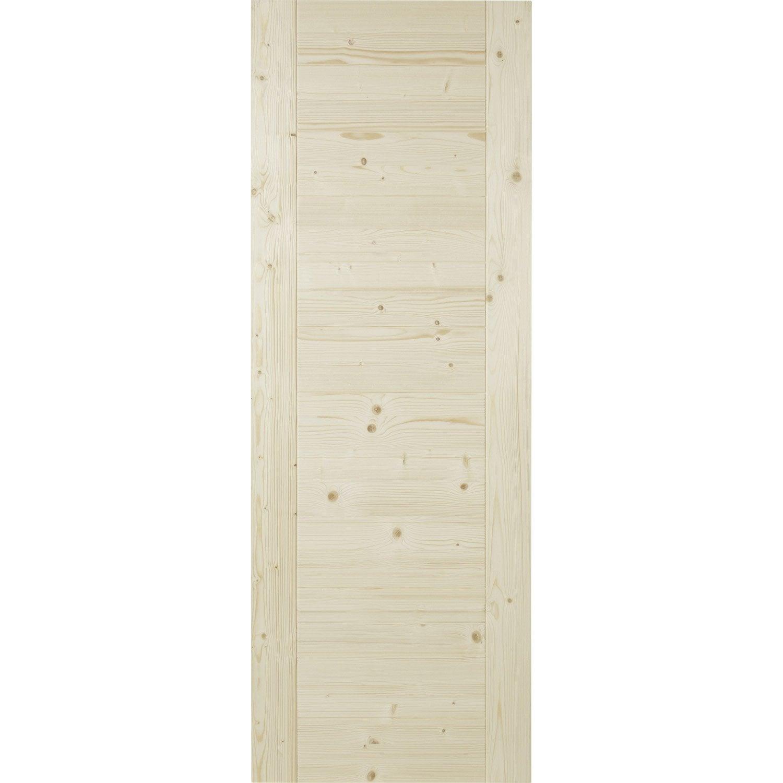 Porte coulissante horizon pleine 204 x 73 cm leroy merlin for Porte coulissante 73 cm