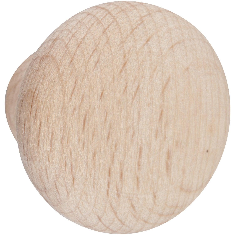 Lot de 6 boutons de meuble Dune, bois brut Leroy Merlin # Bouton De Porte Bois