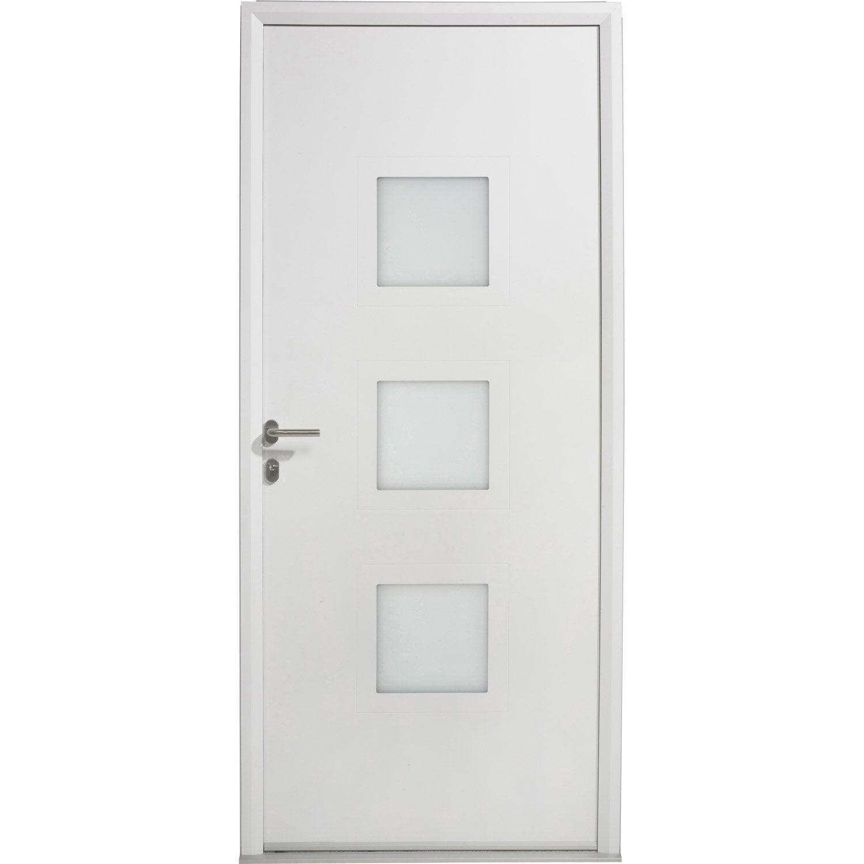 Porte d 39 entr e aluminium phenix artens poussant gauche for Porte d entree 80 cm