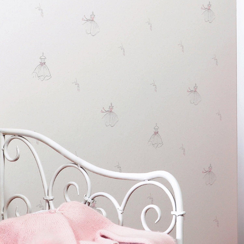 papier peint papier ballerine rose leroy merlin. Black Bedroom Furniture Sets. Home Design Ideas