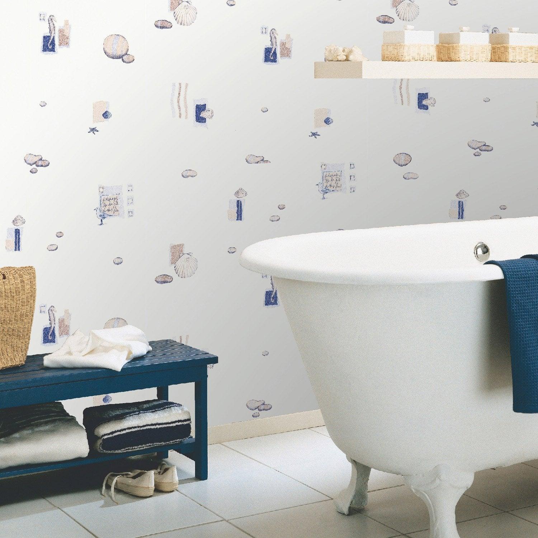 papier peint vinyle expans sur papier marin bleu larg. Black Bedroom Furniture Sets. Home Design Ideas