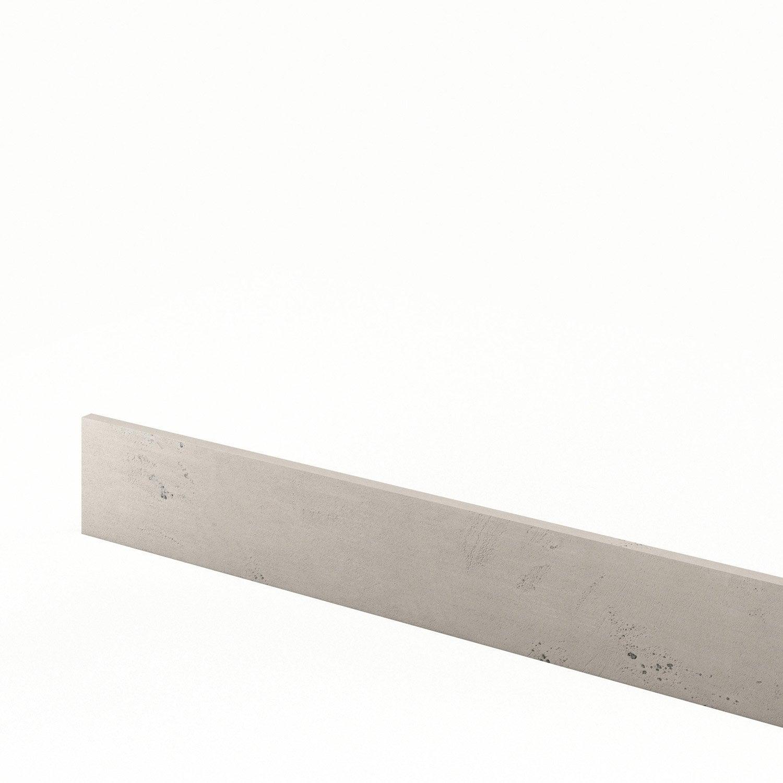 Plinthe de cuisine d cor b ton loft l 270 x h 14 9 cm for Loft beton cire leroy merlin