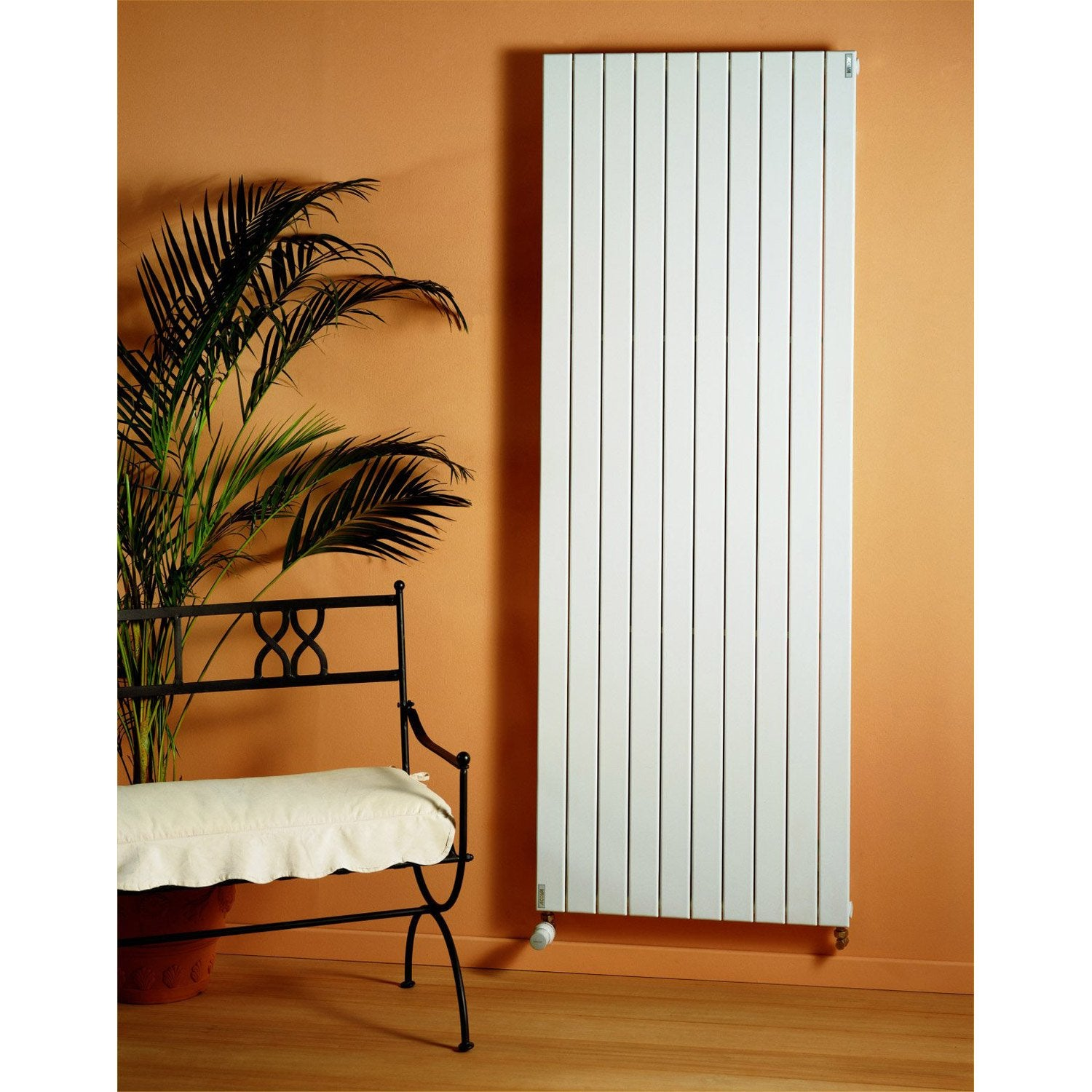 Ordinaire Radiateur Chauffage Central Vertical Design #13: Radiateur Chauffage Central Lina Blanc, L.59.2 Cm, 1240 W | Leroy Merlin