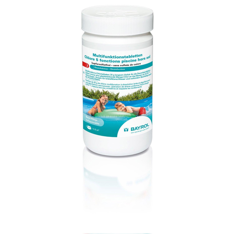 Chlore 5 actions piscine enfant inf 10 m bayrol for Produit piscine bayrol