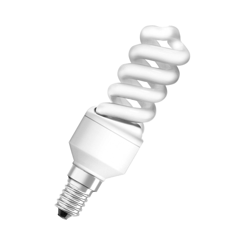 Ampoule spirale fluorescente 9w 430lm quiv 40w e14 - Ampoule lumiere du jour leroy merlin ...