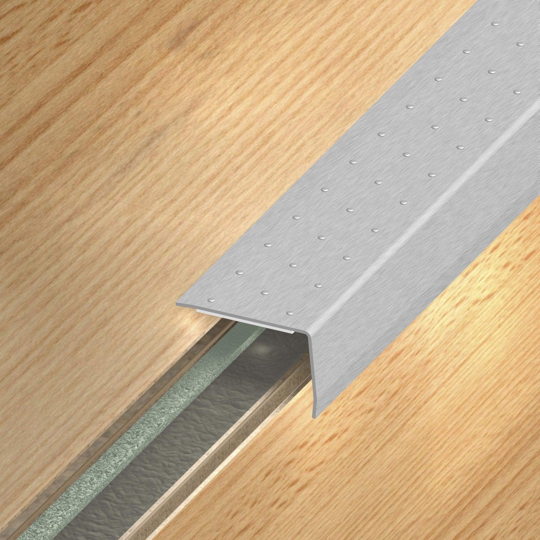 Nez de marche inox gris x l 3 6 cm leroy merlin for Nez de marche inox exterieur