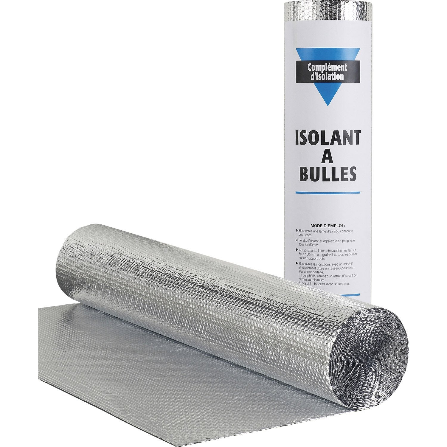 Rouleau isolant mince bulle actis 10 x 1 5 m ep 3 5 mm leroy merlin - Isolation garage leroy merlin ...