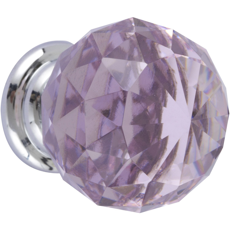 Bouton de meuble cristal verre brillant leroy merlin Bouton cristal meuble cuisine