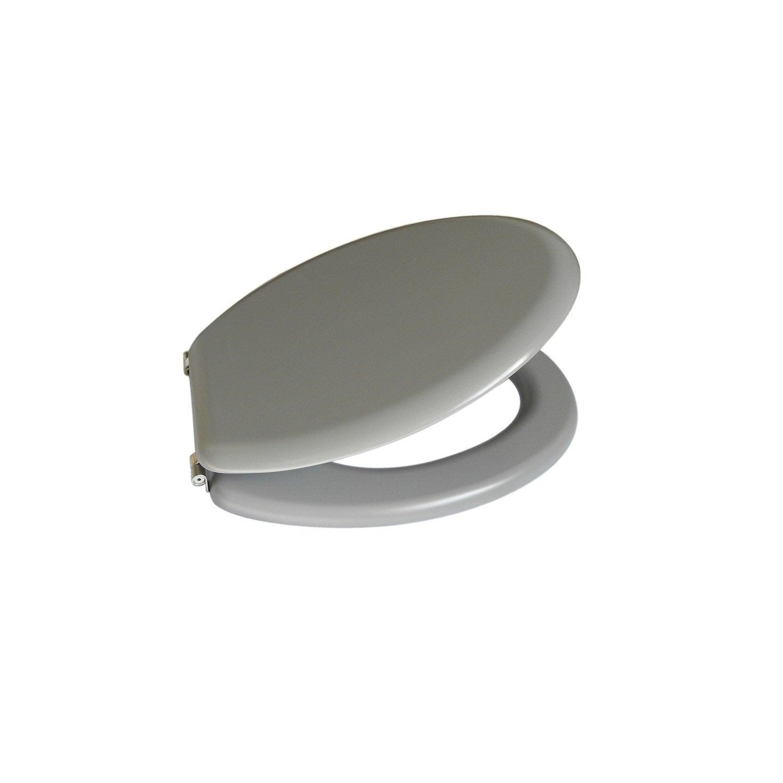 abattant wc sensea mateo gris galet n 3 leroy merlin. Black Bedroom Furniture Sets. Home Design Ideas
