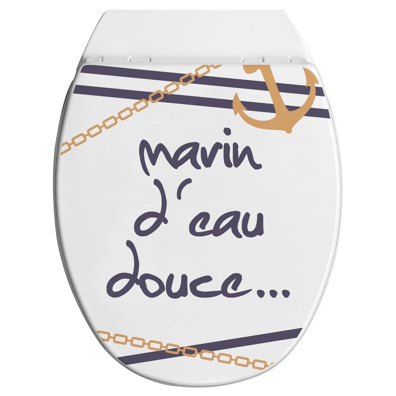 Abattant multicolore bois compress allibert marin d 39 eau douce leroy m - Bois compresse leroy merlin ...