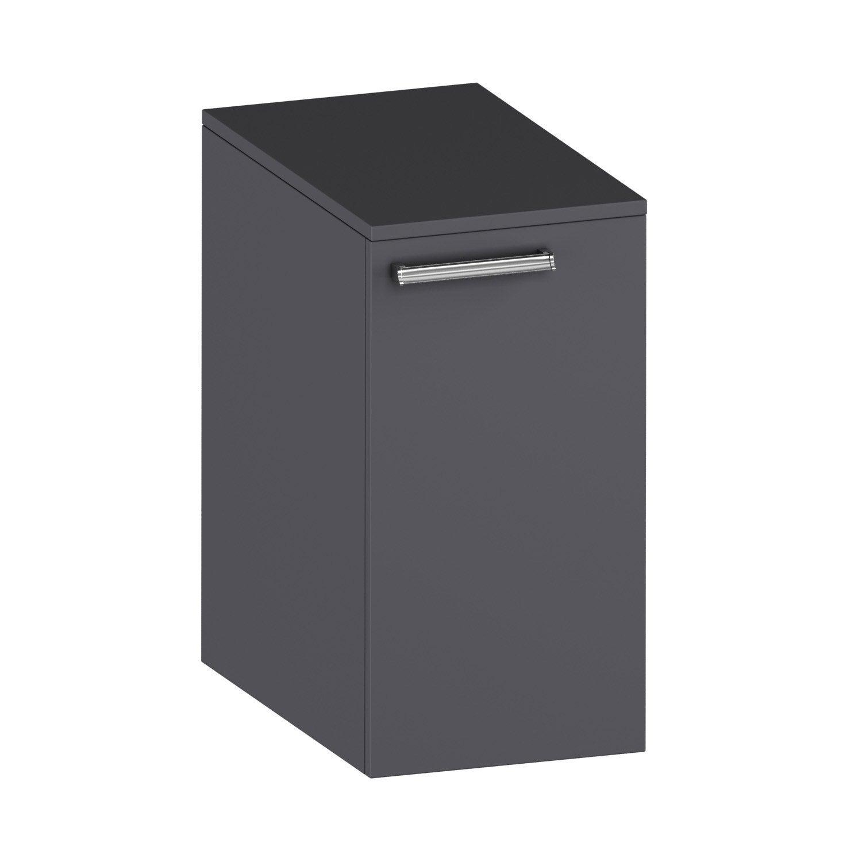 meuble bas elea 2 gris leroy merlin. Black Bedroom Furniture Sets. Home Design Ideas