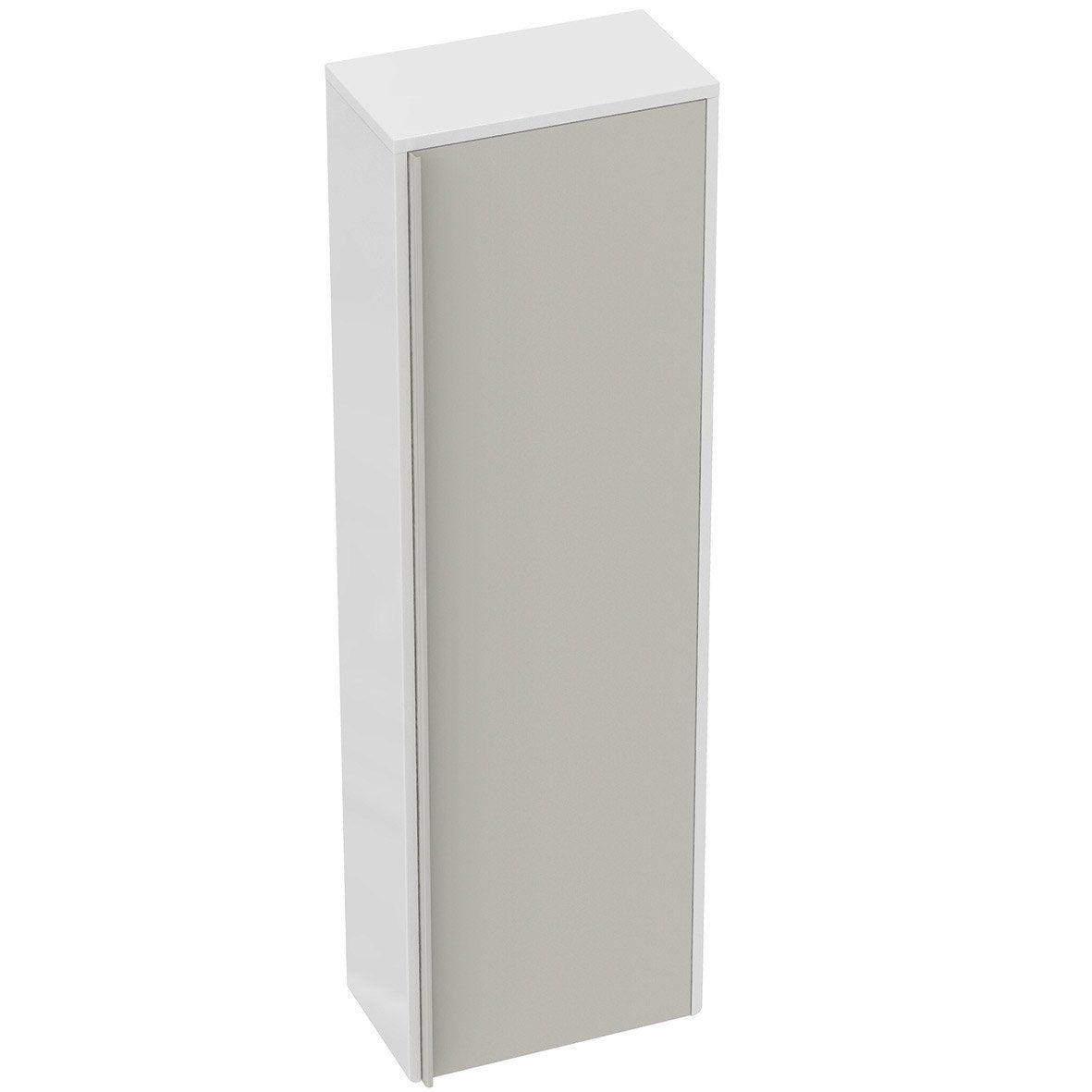 Meuble demi colonne ideal standard idealsmart marron for Leroy merlin colonne