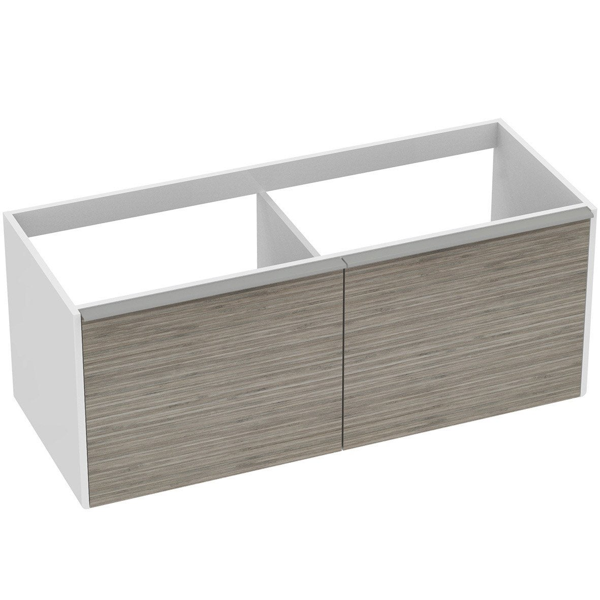 meuble sous vasque idealsmart imitation bambou l120xh48xp48cm 4 tiroirs leroy merlin. Black Bedroom Furniture Sets. Home Design Ideas