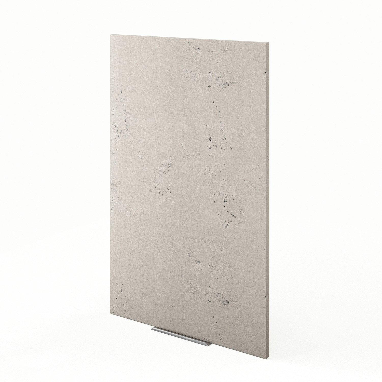 Porte de cuisine d cor b ton f60 92 loft l60 x h92 cm - Loft beton cire leroy merlin ...
